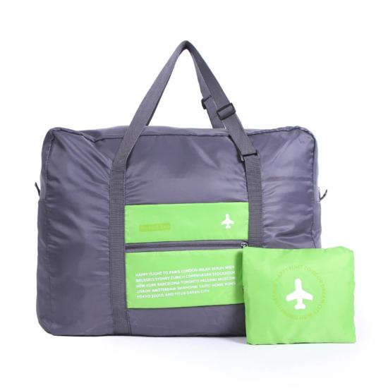 Kézipoggyász méretű, összehajtható táska zöld