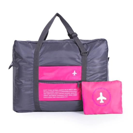 Kézipoggyász méretű, összehajtható táska rózsaszín