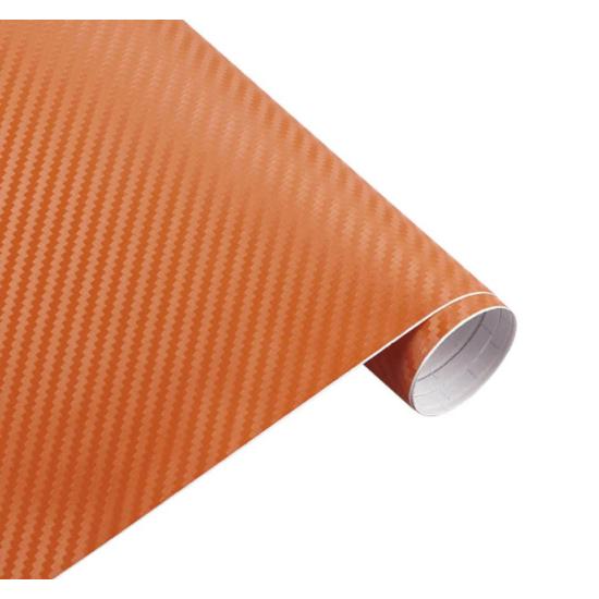 Karbon fólia, autófólia (127 x 15 cm) Narancssárga