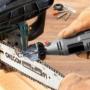 Kép 5/5 - Láncélező készlet, láncfűrész élező adapter szett multiszerszámhoz