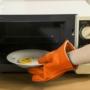 Kép 2/8 - Sütőkesztyű, konyhai edényfogó kesztyű, szilikon hőálló kesztyű 1 db