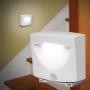 Kép 1/7 - Mozgásérzékelős lámpa, LED lámpa, kültéri és beltéri fali lámpa