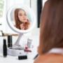 Kép 1/18 - Sminktükör, kozmetikai tükör (nagyítós, ledes, asztali tükör)