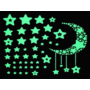Kép 1/5 - 52 db-os, sötétben világító csillag falmatrica