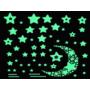 Kép 2/5 - 52 db-os, sötétben világító csillag falmatrica
