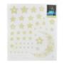 Kép 4/5 - 52 db-os, sötétben világító csillag falmatrica