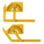 Kép 6/9 - Professzionális szögmérő vonalzóval