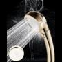 Kép 4/6 - Zuhanyfej, zuhanyrózsa 3 üzemmóddal Arany színű