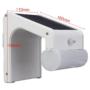 Kép 4/9 - 38 LED-es napelemes elegáns kültéri mozgásérzékelős fali lámpa távirányítóval