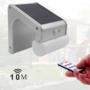 Kép 8/9 - 38 LED-es napelemes elegáns kültéri mozgásérzékelős fali lámpa távirányítóval