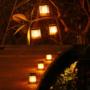 Kép 1/11 - 75 LED-es tűzhatású felakasztható napelemes kerti lámpa