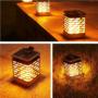 Kép 2/11 - 75 LED-es tűzhatású felakasztható napelemes kerti lámpa