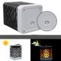 Kép 9/11 - 75 LED-es tűzhatású felakasztható napelemes kerti lámpa