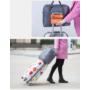 Kép 3/4 - Kézipoggyász méretű, összehajtható táska rózsaszín