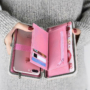 Kép 3/3 - Női pénztárca, borítéktáska Rózsaszín