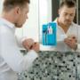 Kép 2/3 - Fürdőszobai fali tároló Kék
